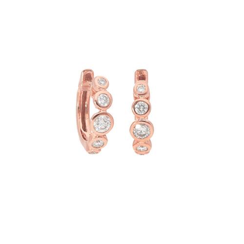 .26 ct Rose Gold Bezel Hoop Earrings