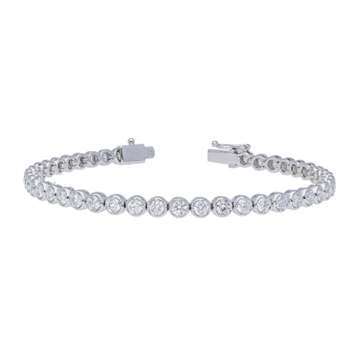 3.87ct Diamond Bezel Prong Bracelet