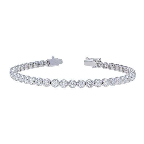 3.87ct Diamond Bezel Prong Bracelet