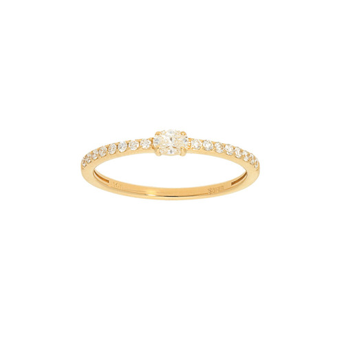 Half Round Pave Diamond Ring