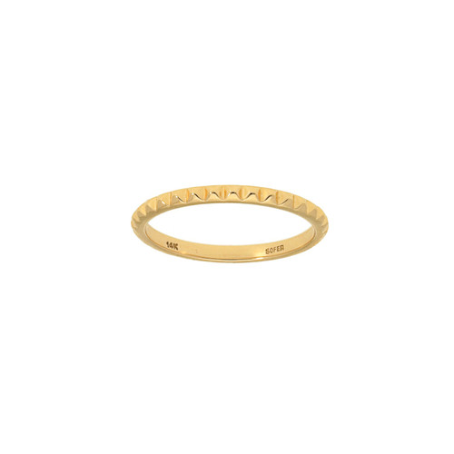 Yellow Gold Stud Ring