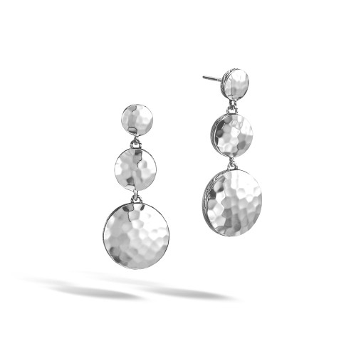 Dot Triple Drop Linear Earrings
