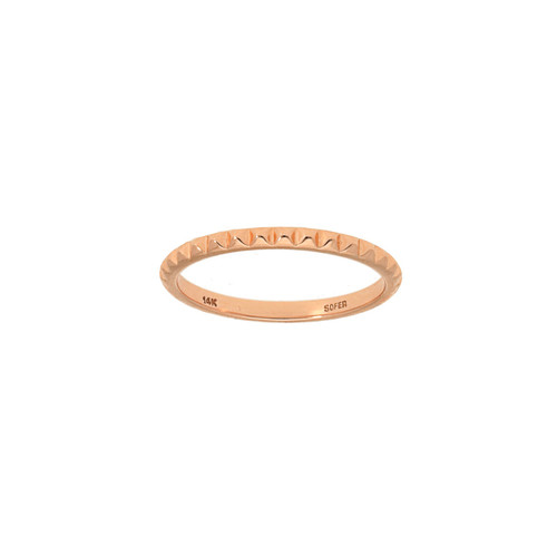 Rose Gold Stud Ring