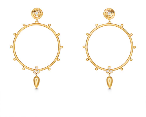18KT Circle Anfora Earrings