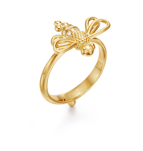 18KT Resting Bee Ring