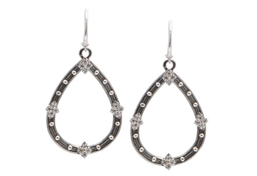 New World Small Open Pear Earrings