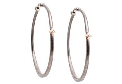 New World 43mm Hoop Earrings