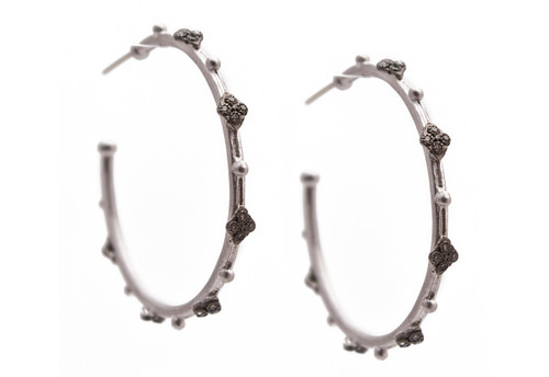 New World 35mm Cravelli Hoop Earrings