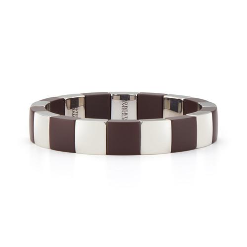 Matte Brown Ceramic Stretch Bracelet