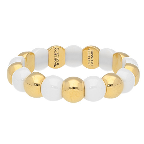 White Dama Aura Stretch Bracelet