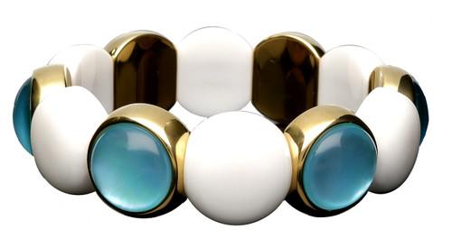 Black and Blue Crystal Dama Stretch Bracelet