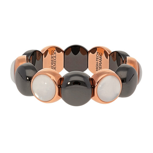 Rose Gold and Black Dama Stretch Bracelet