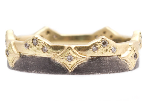 Old World Wide Crivelli Diamond Band