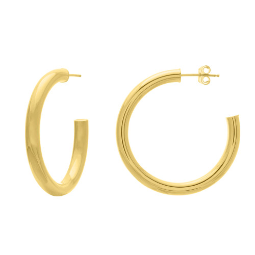 14KT Tube Hoop Earrings