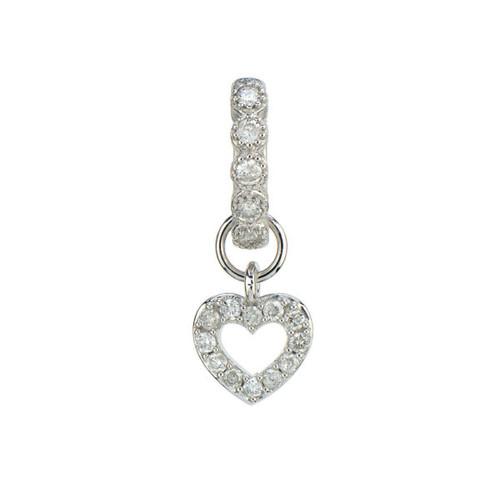 Open Heart Pave Earring Charm