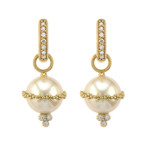 Provence Wrapped Pearl Earring Charms