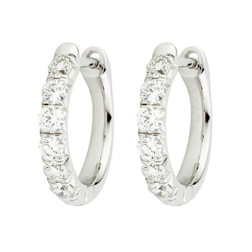 Diamond  French Pave Hoop Earrings
