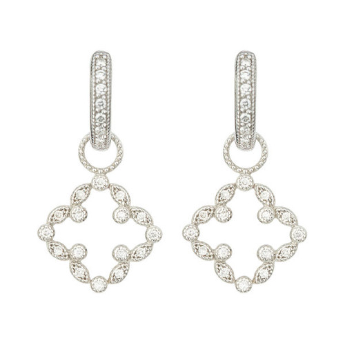 Lisse Pave Open Clover Earring Charm