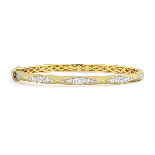 Lisse Raised Pyramid Diamond Bangle Bracelet