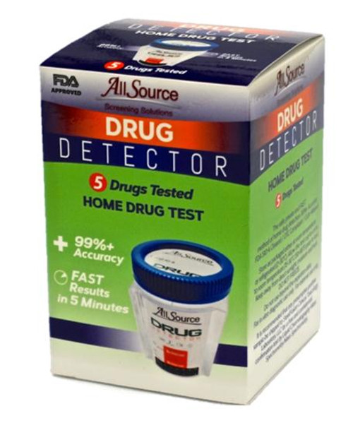 5 Panel At-Home Drug Detector Urine Drug Test w/ FREE Lab Confirmation