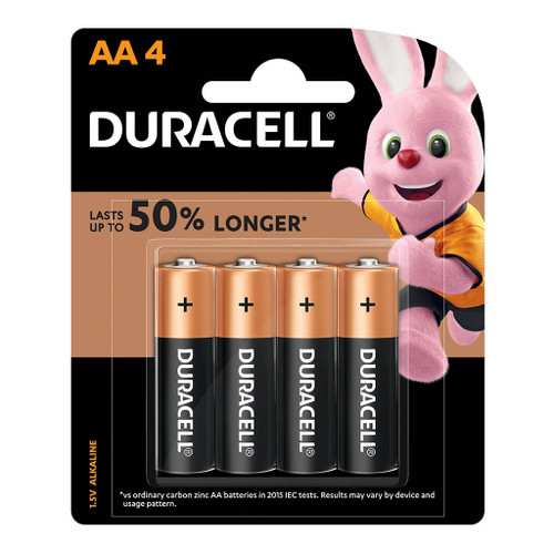 Duracell Coppertop Alkaline AA Battery Pack of 4
