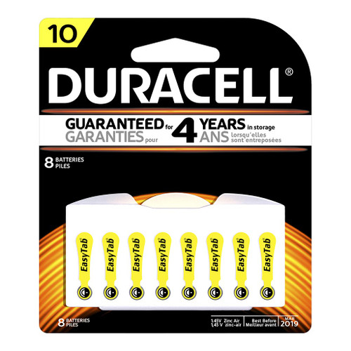 Duracell Hearing Aid 10 Battery Pack of 8