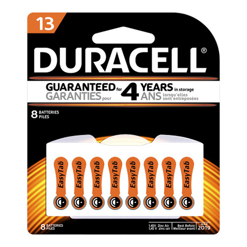 Duracell Hearing Aid 13 Battery Pack of 8