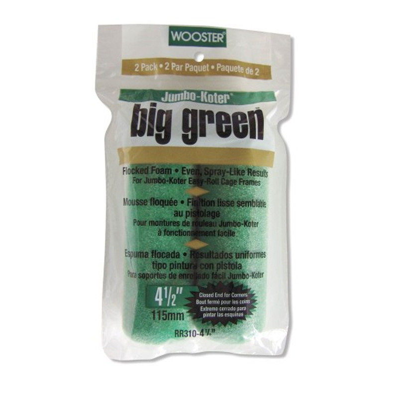Wooster Big Green Flock Jumbo Koter Mini Roller