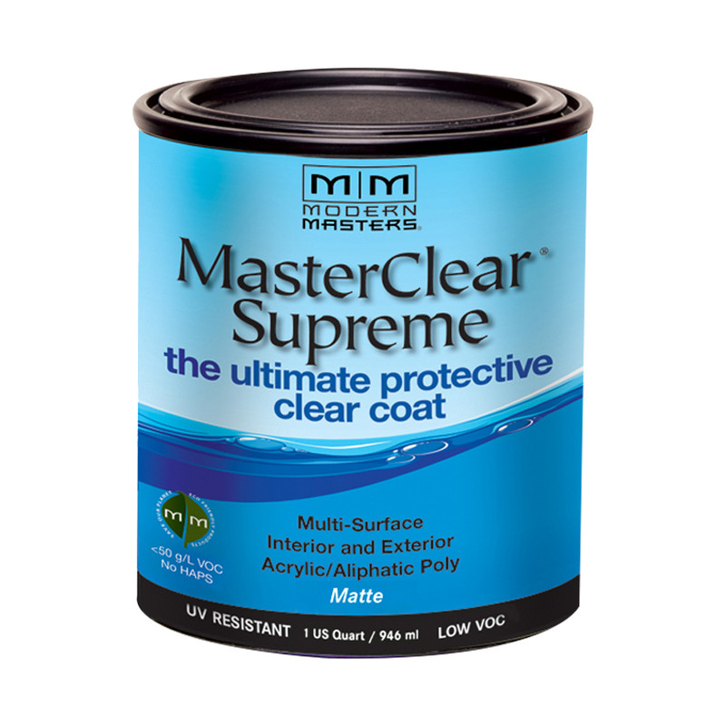 Modern Masters Master Clear Supreme - Water-Based Aliphatic Urethane UV  Protective Finish