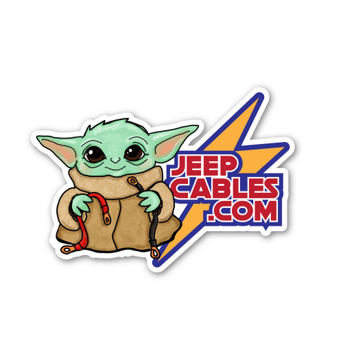 Grogu JeepCables Sticker