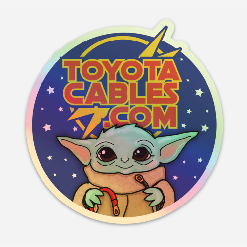 Toyota Cables Grogu Sticker