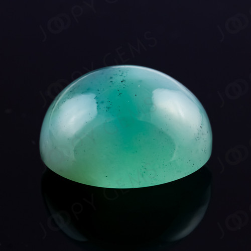 Loose Gemstone Natural Aquamarine Chalcedony Oval Shape Faceted Cabochons 23.5x18-24x18.5 MM Size Aquamarine Cabochons C1126 AAA Quality