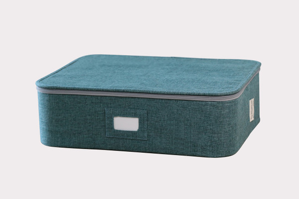 Teal Twill Organizer for Cups, Mugs and Ornaments