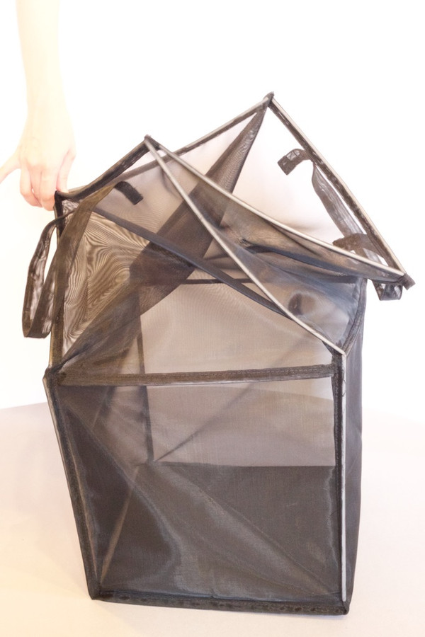 Sturdy Black Mesh Tote for Laundry, Toys and More