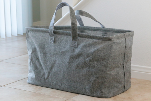 Gray Twill Nursery and Laundry Tote
