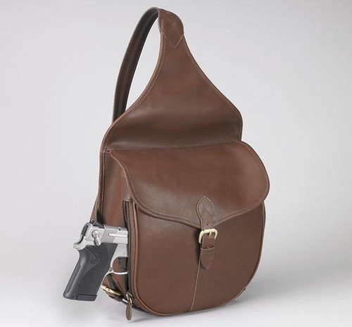 Concealed Carry Shoulder Saddlebag Mocha Brown