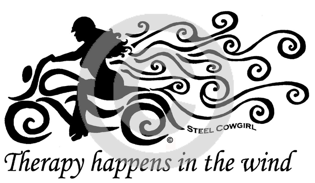 """""""Therapy Happens In The Wind"""" Wicking Black Aqua Racerback Tank (Graphics are protected by copyright laws, unauthorized use is prohibited)"""