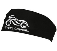 Performance Wicking Fabric Motorcycle Headband by Steel Cowgirl (graphics are protected by copyright laws, unauthorized use is prohibited)
