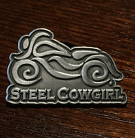 Steel Cowgirl Motorcycle Pin