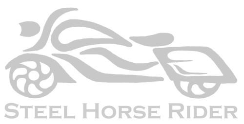 """Steel Horse Rider 3"""" Motorcycle Helmet Decal"""