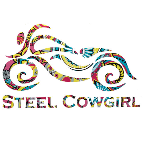 Bright Paisley Motorcycle Decal by Steel Cowgirl (Graphic is protected under Copyright Laws, unauthorized use is prohibited)