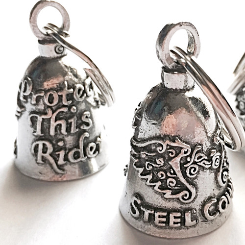 FRONT AND BACK VIEWS  Protect This Rider Steel Cowgirl Guardian Bell Graphics are copyright protected and Steel Cowgirl is a Trademarked Brand.  Unauthorized use is prohibited.