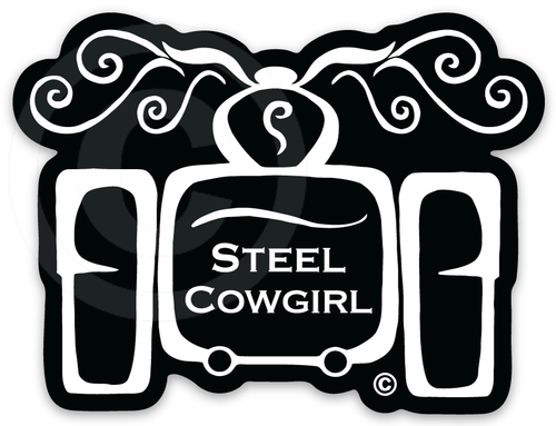 "3"" Trike Decal / Sticker by Steel Cowgirl - Graphics are protected by copyright laws, unauthorized use is prohibited"