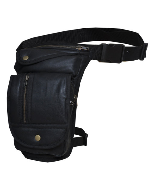 Concealed Carry Genuine Leather Thigh Bag