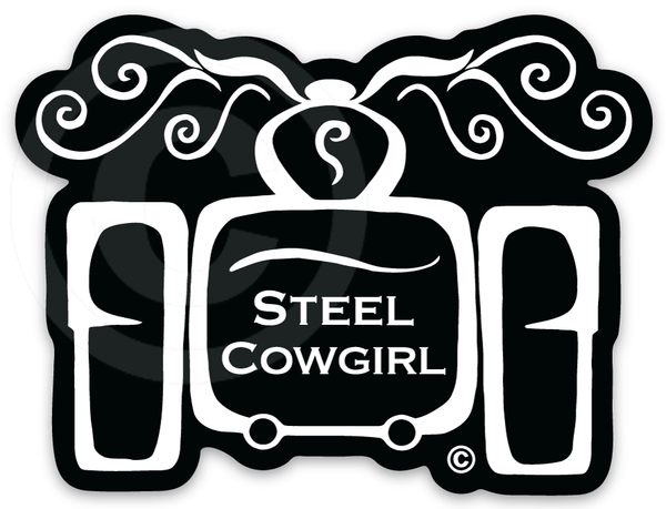 """3"""" Trike Decal / Sticker by Steel Cowgirl - Graphics are protected by copyright laws, unauthorized use is prohibited"""