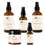 A complete Ayurvedic skincare kit for eczema relief. Calms, soothes, nourishes and balances skin. (kit with Eladi & Eladi Light best for dry skin)