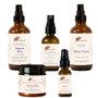 A complete Ayurvedic skincare kit for eczema relief. Calms, soothes, nourishes and balances skin. (kit with Neem Kiss & Kama Facial Oil best for oily skin)