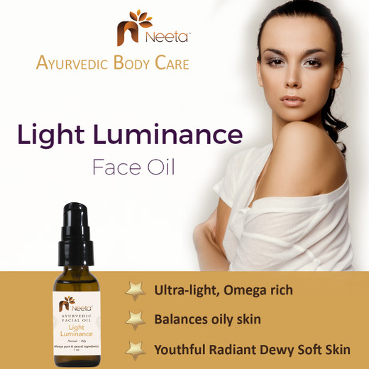 Ayurvedic Health meets Light Luminance Facial Oil by Neeta Naturals