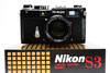 Nikon S3 limited edition, Rangefinder film camera with 50mm f1.4 and case, Black