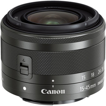 Canon  EF-M 15-45mm f/3.5-6.3 IS STM Lens (graphite) for M3 & M10
